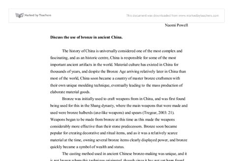 Essay About Ancient by Ancient China Essay
