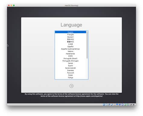 keyboard layout login screen mac virtualbox how to create a macos high sierra vm to run on