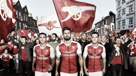 Arsenal 3rd 20162017 arsenal launch 2016 17 home kit and shut exit