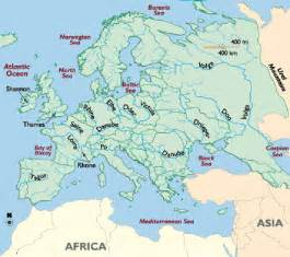 major rivers of map rivers in europe map cruise guide