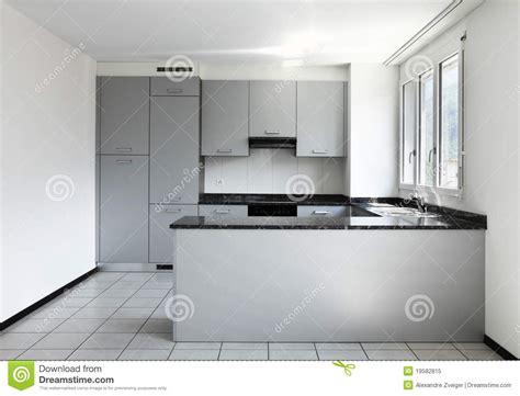 Empty Kitchen by New Apartment Empty Kitchen Royalty Free Stock Photo