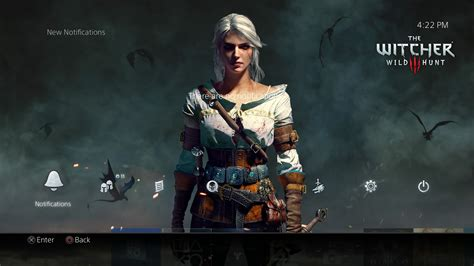 ps4 themes witcher 3 there s a new the witcher 3 free ps4 theme and it s well