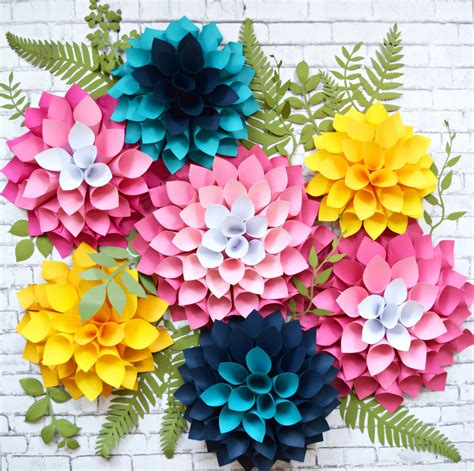 Paper Flowers With - s crafty diy dahlia paper flowers how to