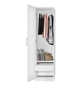 2 Door Wardrobe Closet Alta Narrow Wardrobe Closet Left Door 2 Interior