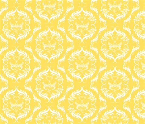 Eco Friendly Upholstery Bright Sunny Yellow Floral Damask Fabric Cksstudio80