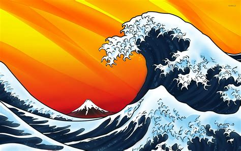 wallpaper hd 1920x1080 japan japanese style waves wallpaper vector wallpapers 14950