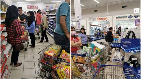 angkara covid   ramai pnik penuhi pasar raya