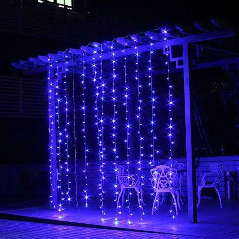 12w 200 led blue light christmas twinkle string lights