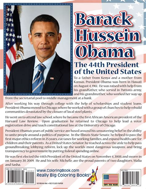 biography of obama coloring books president barack obama vice president joe