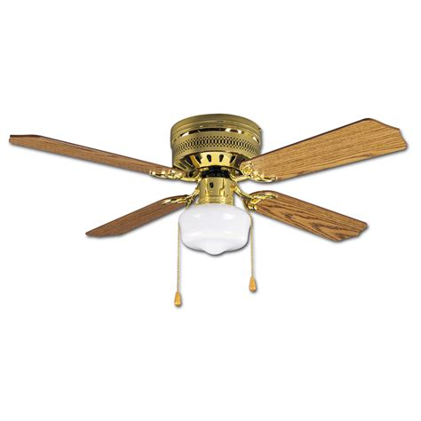 shop litex celeste hugger 42 in polished brass flush mount - Brass Ceiling Fans