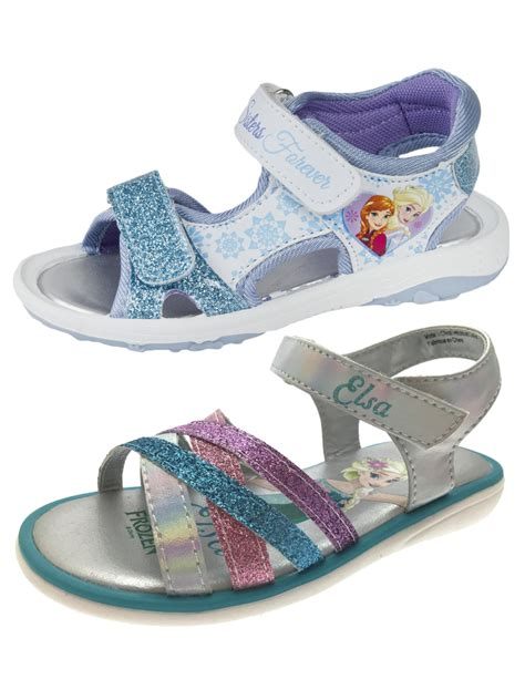 frozen flat shoes with bow frozen elsa flat glitter sports sandals