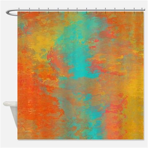 Aqua And Orange Curtains Orange Aqua Shower Curtains Orange Aqua Fabric Shower Curtain Liner