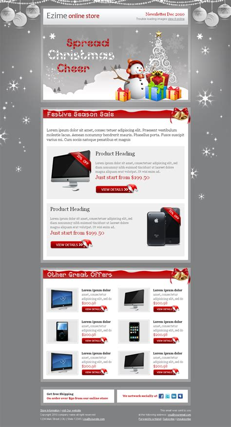 email template themeforest festive newsletter template by bluenila themeforest