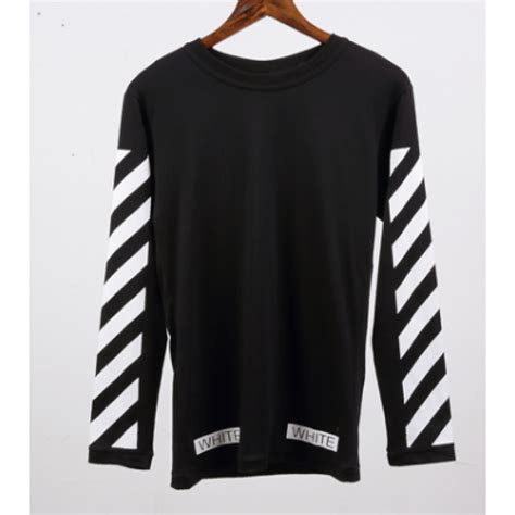 Sleeve Stripe T Shirt white sleeve stripe sleeve black