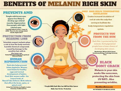 melanin skin color benefits of melanin rich skin visual ly