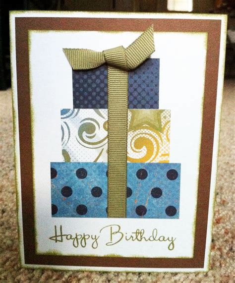 Handmade Masculine Birthday Cards - with paper scrapbooks cards diy masculine