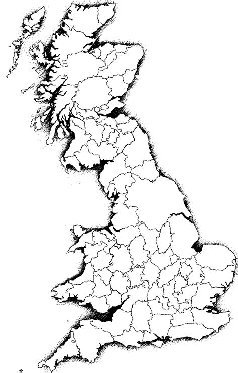 Britain Counties Outline Map by Blank Map Directory Western Europe Alternatehistory Wiki