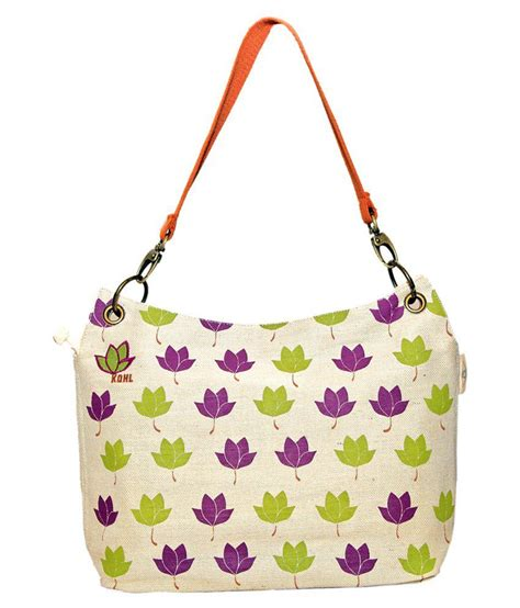 Handbag Wd 961 Beige buy kohl tote bag beige orange at best prices in india snapdeal
