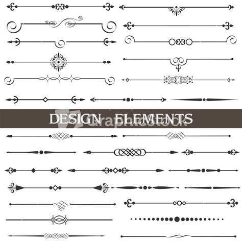calligraphic design elements and page decoration vector set royalty free free calligraphic design vector elements