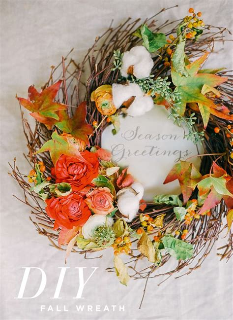 create a fall floral wreath utterly engaged