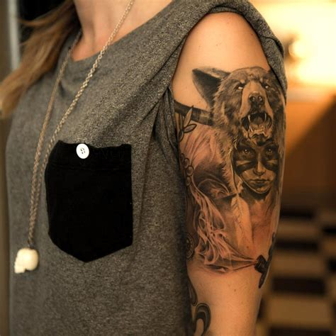 bear and wolf tattoo designs tattoos designs ideas and meaning tattoos for you