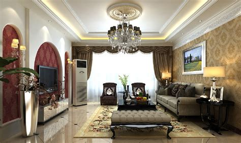 European Living Room Pictures Tv Wall Minimalist European Style Living Room 3d House
