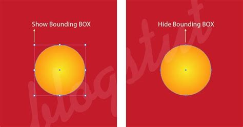 illustrator pattern bounding box show or hide bounding box in illustrator vector design