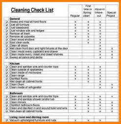 Apartment Cleaning Checklist Form 4 Apartment Cleaning Checklist Letter Format For