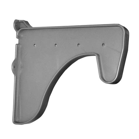 Shelf End Brackets by Ez Shelf 12 In X 10 In Silver Side End Bracket For