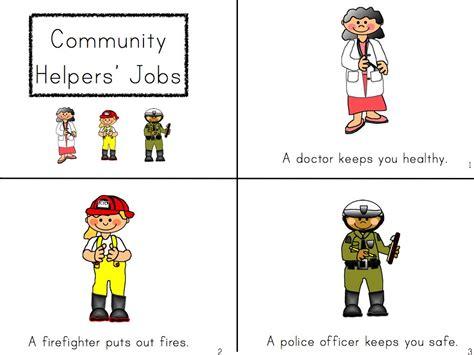 kindergarten activities community helpers community helper