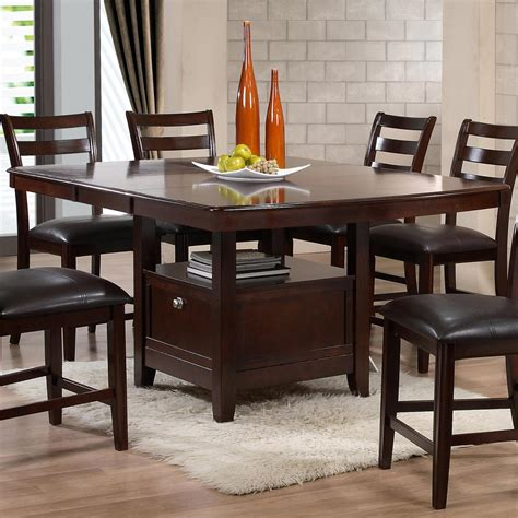 pub style dining table with storage holland house 1965 dining contemporary pub table with