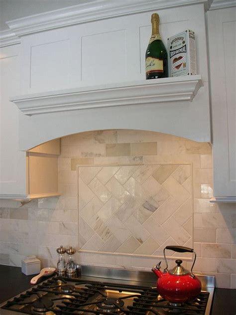 great backsplash subway tile simple hood and herringbone subway tile with herringbone accent over stove and i