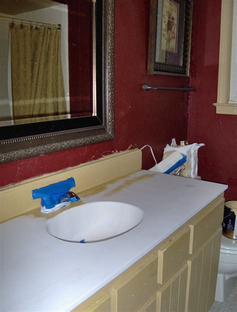 Best Paint For Bathroom Vanity by Painting A Vanity Top Diy