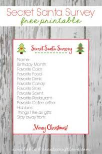 secret santa gift exchange template secret santa survey printable