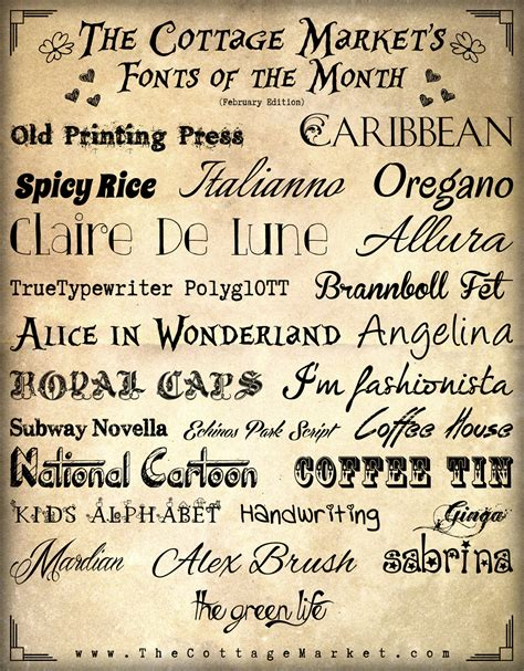 fonts free free fonts the handwritten edition the cottage market