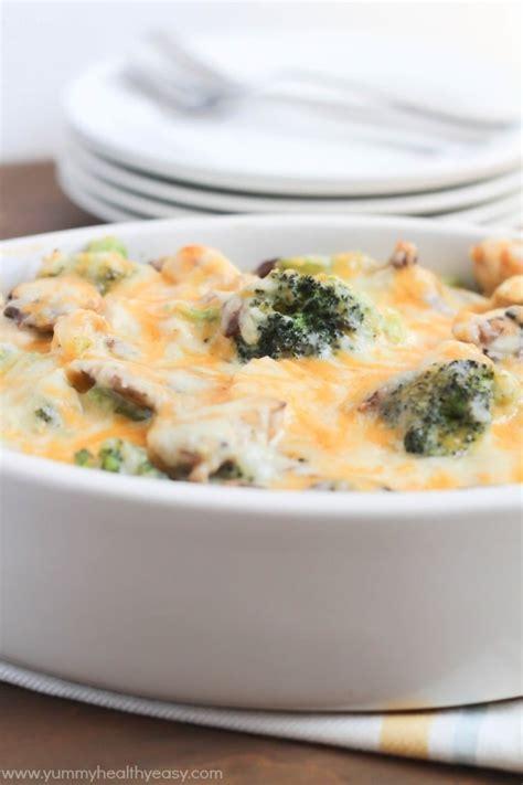 skinny chicken broccoli casserole yummy healthy easy