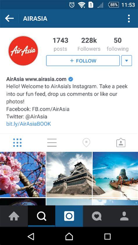 airasia instagram top 10 malaysian brands on instagram ecinsider