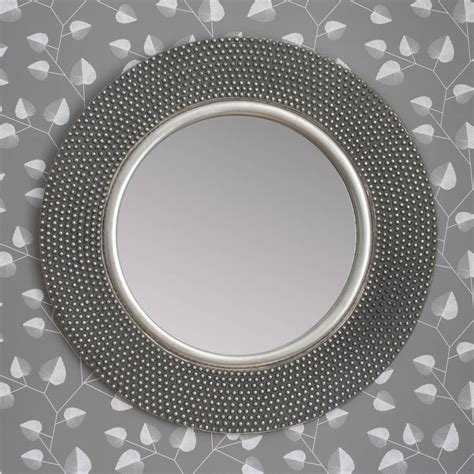 round silver bevelled mirror dante silver mirror by decorative mirrors notonthehighstreet