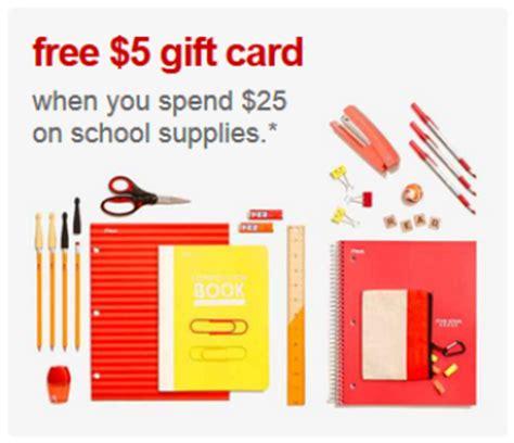 Target 5 Gift Card School Supplies - target com 5 gift card with 25 school supplies purchase free shipping all