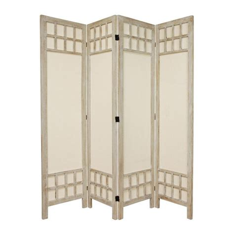 Indoor Privacy Screen Living Room Furniture Shop Furniture Room Dividers 4 Panel Burnt White