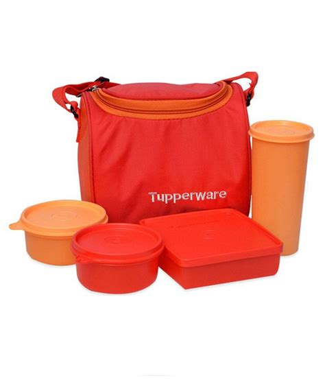 tupperware multicolor lunch set buy at best price