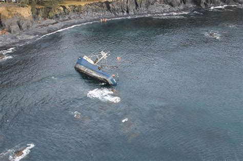 salmon fishing boat accident file coast guard responds to oil sheen from grounded