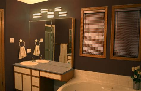 brown bathroom walls 2 step bathroom update mochi home mochi home