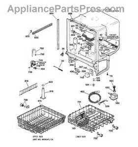 Ge Replacement Parts Dishwasher Ge Wd28x10369 Dish Rack Appliancepartspros