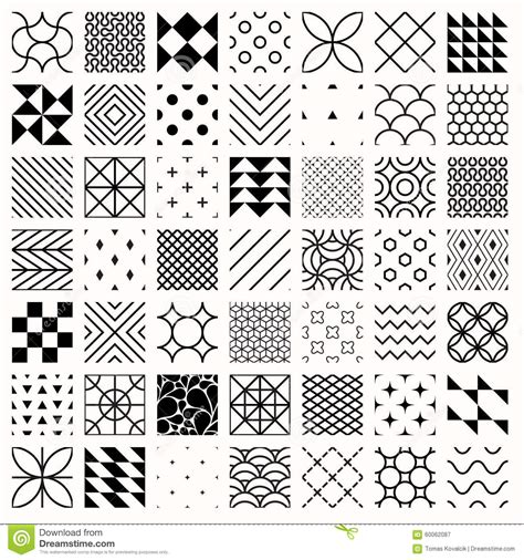 pattern using line set of geometric seamless patterns triangles lines
