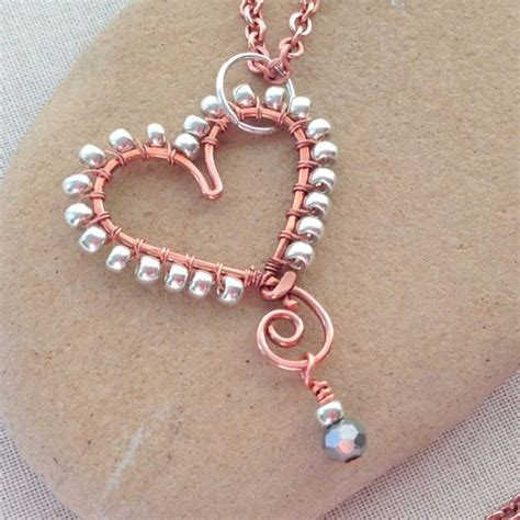 wire and bead make a bead wrapped wire pendant 187 dollar store crafts
