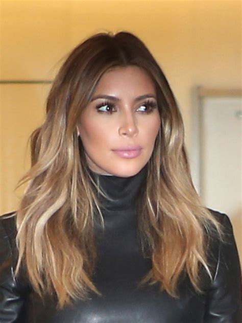 kim kardashian blonde balayage highlights photos kim kardashian s contouring tips tricks from makeup