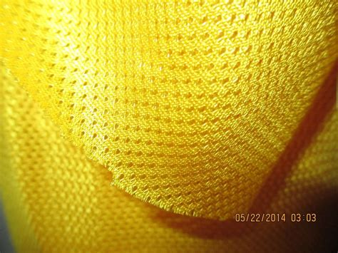 stretch knit material knit fabric 2 way stretch mesh yellow 60 in wide by