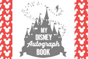 disney world autograph book template free printable disney character autograph pages