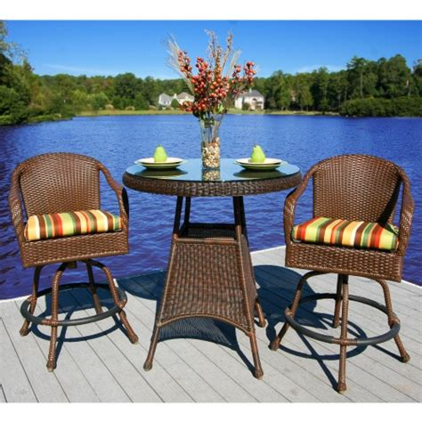tortuga bar height patio bistro set patio